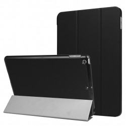 For iPad 9.7 inch 2017 Custer Texture Horizontal Flip Leather Case Black