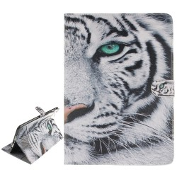 Tiger Leather Case with  Card Slots & Wallet for iPad 9.7 inch 2017