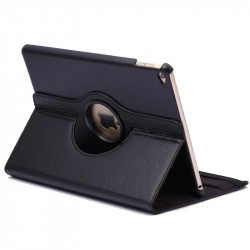 For iPad Air 2 360 Degree Rotation Litchi Texture Leather Case Black