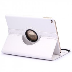 For iPad Air 2 360 Degree Rotation Litchi Texture Leather Case White