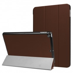 For iPad 9.7 inch 2017 Custer Texture Horizontal Flip Leather Case Coffee